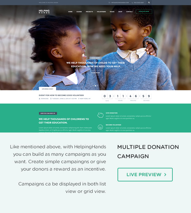 Charity WordPress Theme | HelpingHands - 6