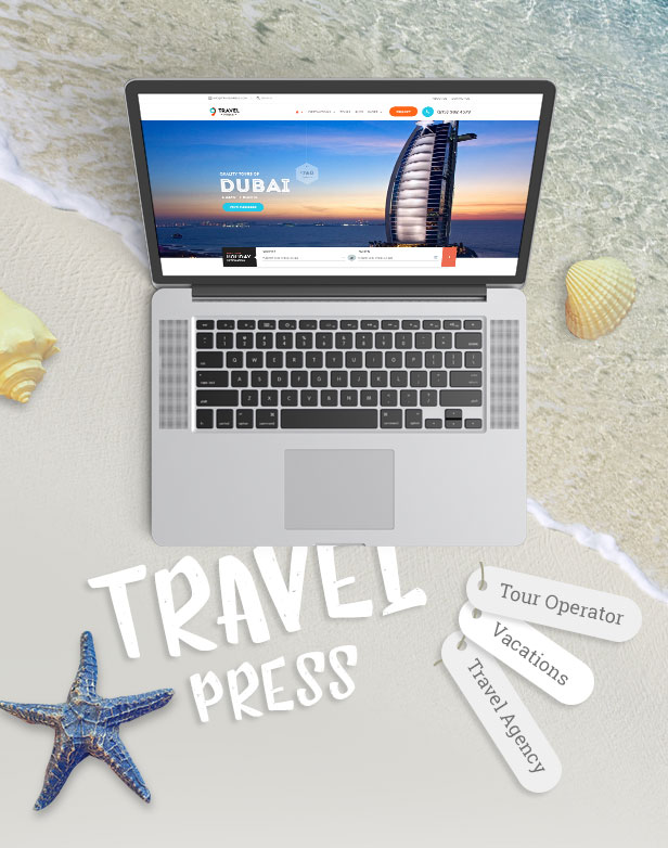 Travel Agency WordPress Theme - 2