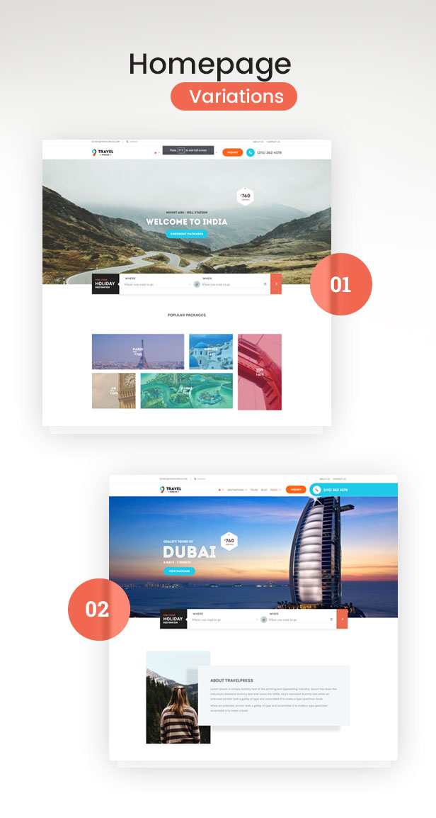 Travel Agency WordPress Theme - 3