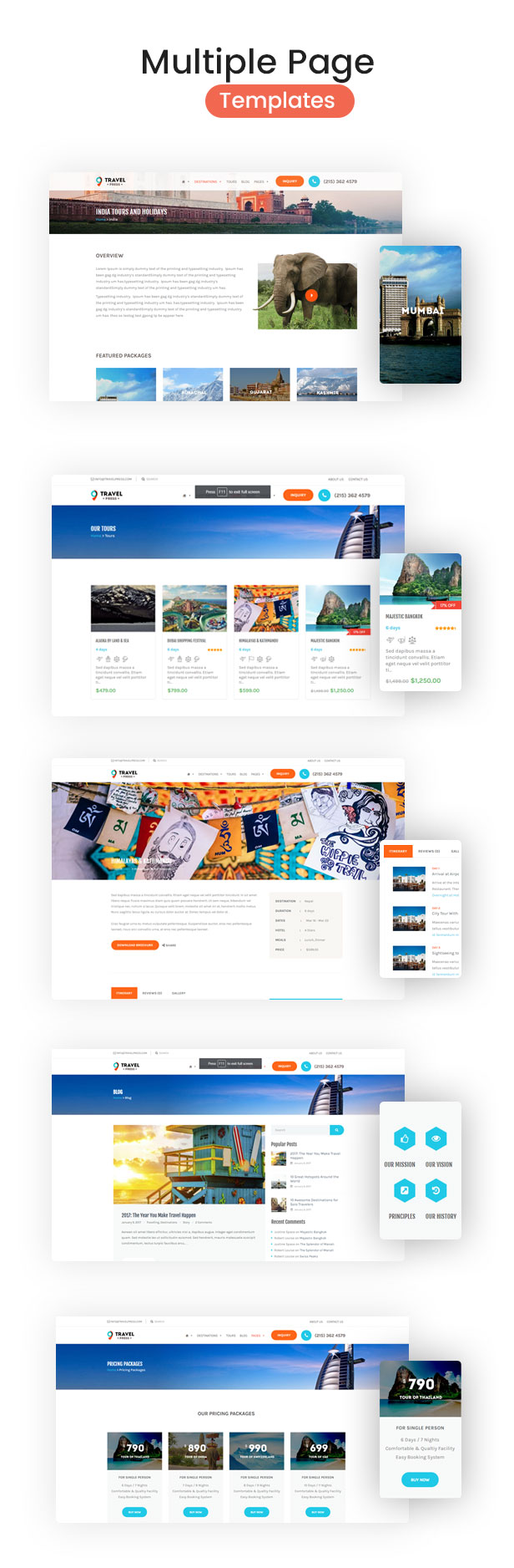Travel Agency WordPress Theme - 5