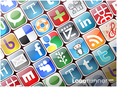 logorunner social bookmarking icons