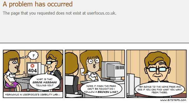 comic strips 404 error page