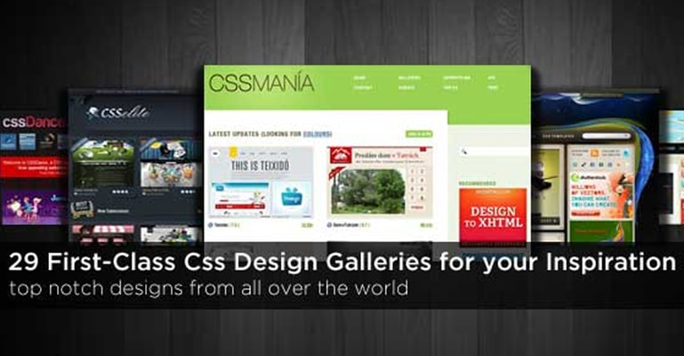 29 First-Class Css Design Galleries for your Inspiration